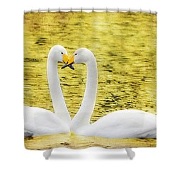 Loving Swans Shower Curtain by Tommytechno Sweden