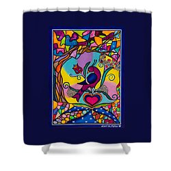 Shower Curtain featuring the painting Loving The World by Lori Miller