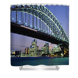 Low Angle View Of A Bridge, Sydney Shower Curtain