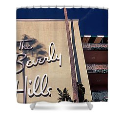 Low Angle View Of A Hotel, Beverly Shower Curtain