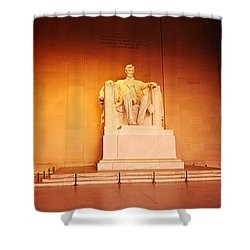 Low Angle View Of A Statue Of Abraham Shower Curtain by Panoramic Images