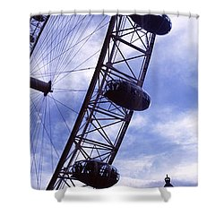 Low Angle View Of The London Eye, Big Shower Curtain by Panoramic Images