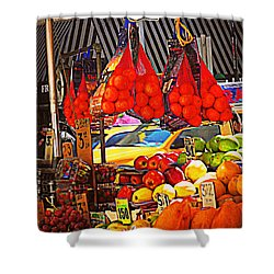 Shower Curtain featuring the photograph Low-hanging Fruit by Miriam Danar