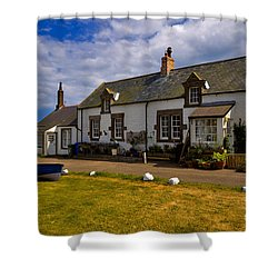 Low Newton By The Sea Shower Curtain by Louise Heusinkveld