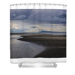 Tidal Design Shower Curtain
