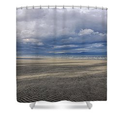 Low Tide Sandscape Shower Curtain