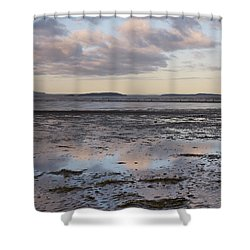 Low Tide Reflections Shower Curtain by Priya Ghose