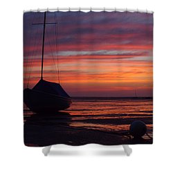 Sunrise At Low Tide Shower Curtain by Dianne Cowen