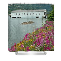 Shower Curtain featuring the photograph Lowell Covered Bridge by Nick  Boren