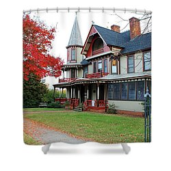 Lowenstein-henkel House Shower Curtain by Cynthia Guinn