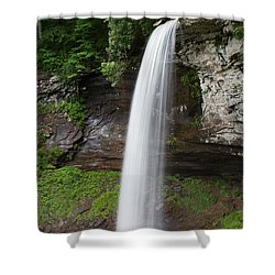 Lower Fall At Hills Creek Shower Curtain