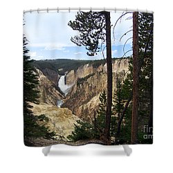 Shower Curtain featuring the photograph Lower Falls by Charles Robinson