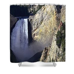 Shower Curtain featuring the photograph Lower Falls by David Andersen