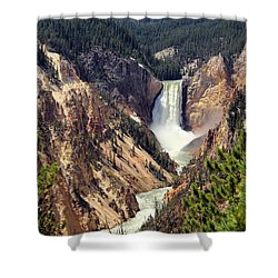 Lower Falls Of Yellowstone Shower Curtain