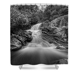Lower Falls On Big Run River  Shower Curtain by Dan Friend