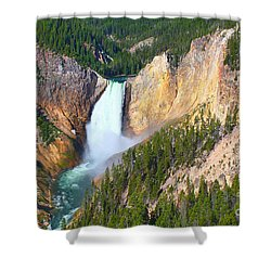 Shower Curtain featuring the photograph Lower Falls Yellowstone 2 by Teresa Zieba