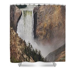 Lower Falls - Yellowstone Shower Curtain by Mary Carol Story