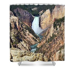 Shower Curtain featuring the photograph Lower Falls Yellowstone by Teresa Zieba