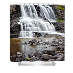 Lower Gooseberry Falls Shower Curtain by Randall Nyhof