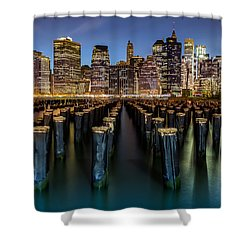 Shower Curtain featuring the photograph Lower Manhattan by Mihai Andritoiu