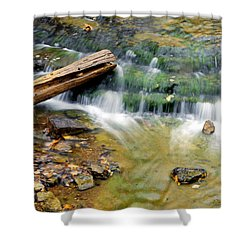 Lower Part Of Au Train Falls Shower Curtain by Optical Playground By MP Ray