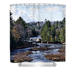 Lower Tahquamenon Falls Michigan Shower Curtain by Evie Carrier