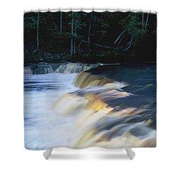 Lower Tahquamenon Falls Shower Curtain by Randy Pollard
