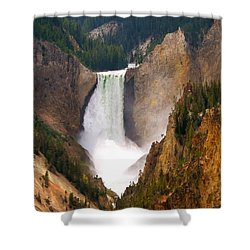 Shower Curtain featuring the photograph Lower Yellowstone Falls by Eric Tressler