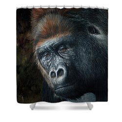 Lowland Gorilla Painting Shower Curtain