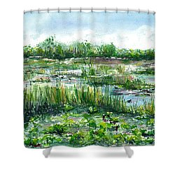 Loxahatchee Marsh Shower Curtain