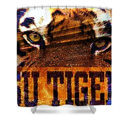 Lsu - Death Valley Shower Curtain by Elizabeth McTaggart
