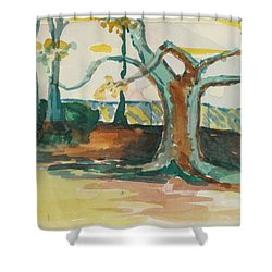 Lsu Oaks Cypress Knees Shower Curtain