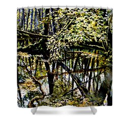 Lubianka-4 Mystery Of Swamp Forest Shower Curtain by Henryk Gorecki