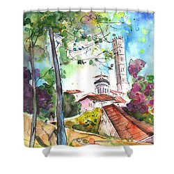 Lucca In Italy 01 Shower Curtain by Miki De Goodaboom