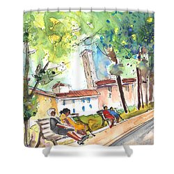 Lucca In Italy 03 Shower Curtain by Miki De Goodaboom
