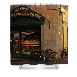 Lucca Italy Shower Curtain by Bob Christopher