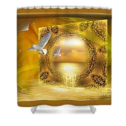 Shower Curtain featuring the digital art Lucid Dream - Surreal Art By Giada Rossi by Giada Rossi