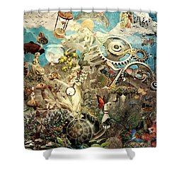 Lucid Dreaming Shower Curtain by Ally  White