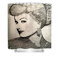 Lucille Ball Shower Curtain
