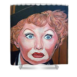 Lucille Ball Shower Curtain by Tom Roderick