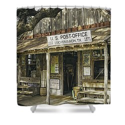 Luckenbach Shower Curtain by Scott Norris