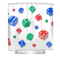 Lucky Dice Shower Curtain