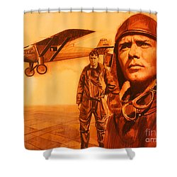 Lucky Lindy Shower Curtain
