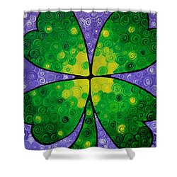 Lucky One Shower Curtain by Sharon Cummings