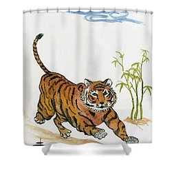 Lucky Tiger Shower Curtain
