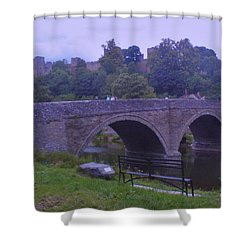 Shower Curtain featuring the photograph Ludlow Castle by John Williams