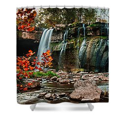 Ludlowville Falls Shower Curtain