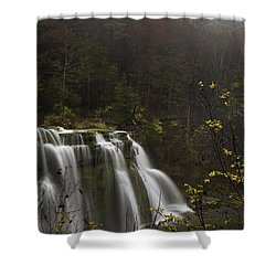 Ludlowville Falls In Autumn I Shower Curtain