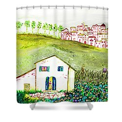 L'ultima Fatica Shower Curtain by Loredana Messina