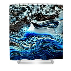 Shower Curtain featuring the digital art Lumenittoral by Richard Thomas